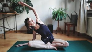Easy Pose With Side-Body Stretch